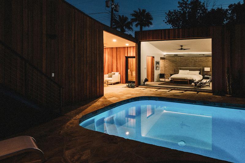 Redwood Clad Home pool