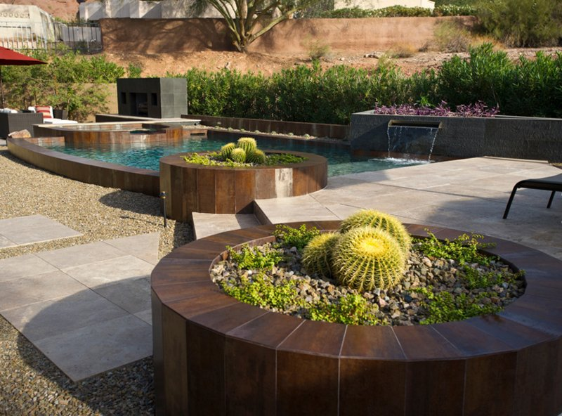circular planters