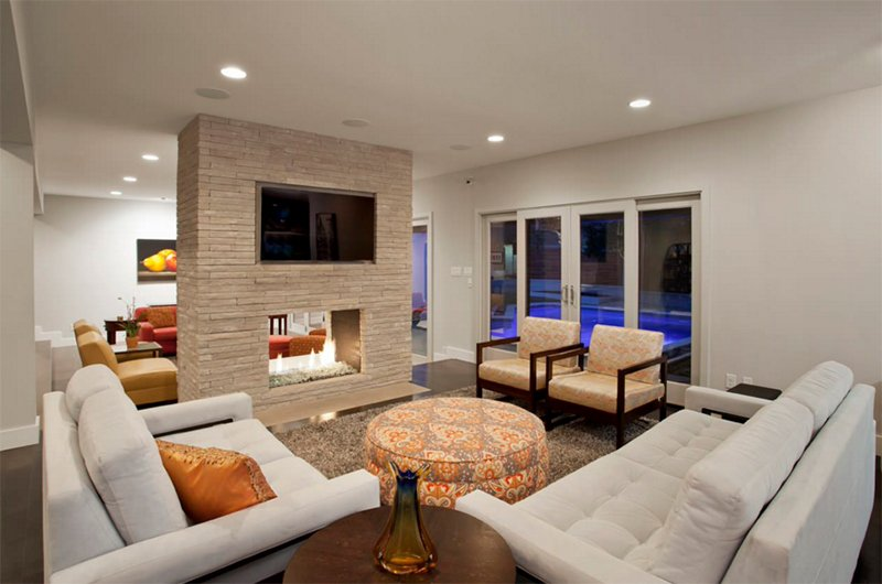 23 double sided fireplace designs in the living room home design