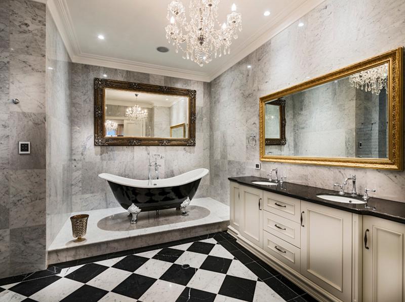 gorgeous bathroom crystal chandeliers  home design lover, Home decor