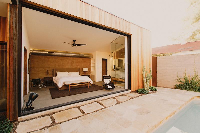 Redwood Clad Home bed