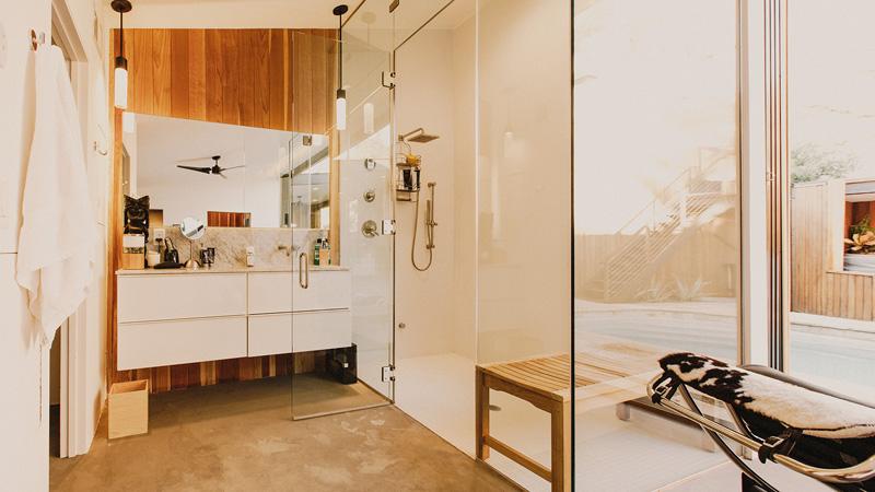 Redwood Clad Home vanity