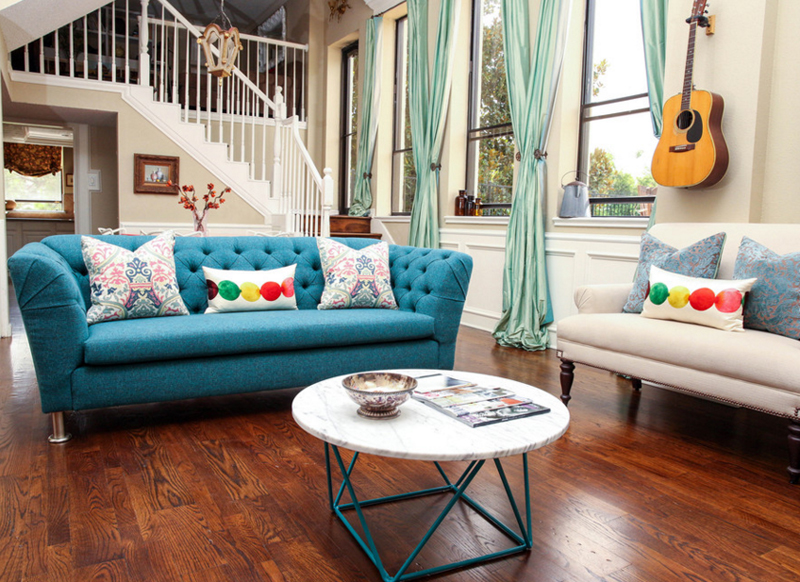 20 charming blue living room couch home design lover On idee deco canape noir