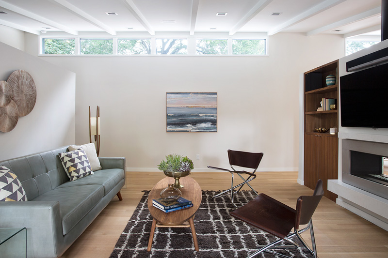 Midcentury Remodel fireplace
