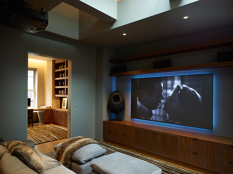 West 27 penthouse home theater