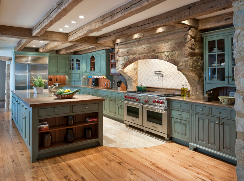 Distressed Green Kitchen Cabinets emejing rustic painted kitchen cabinets photos - amazing design