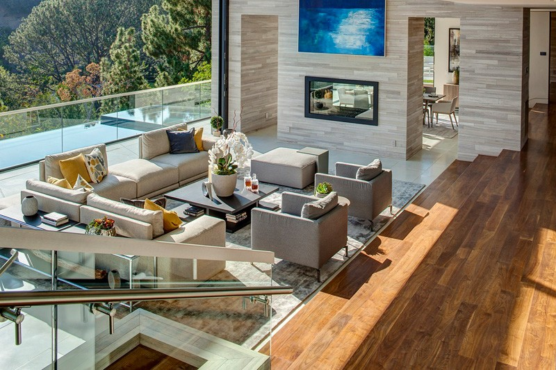 Hollywood Hills Home living area