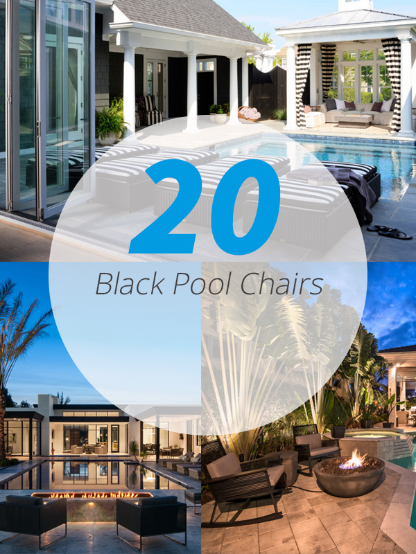 black pool chair