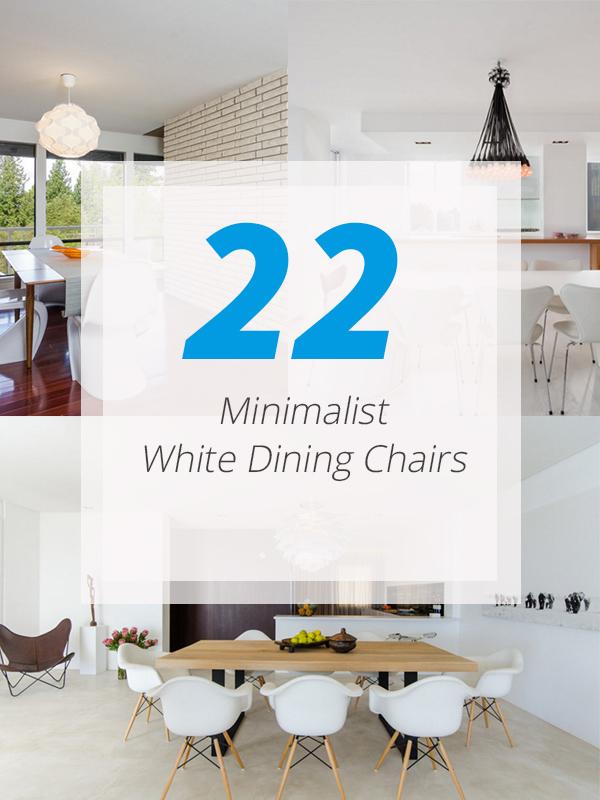 minimalist dining white chairs