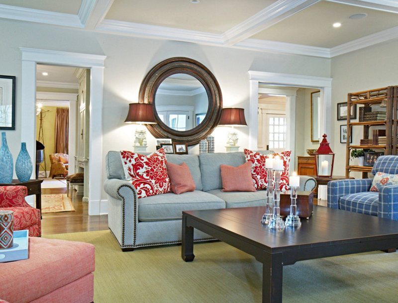 20 beautiful living rooms with blue, red and white accents | home