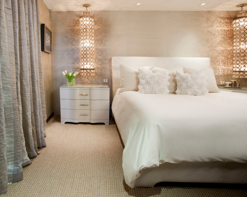 Lori Gentile. 20 Perfect Looking Glass Chandelier in the Bedroom   Home Design Lover