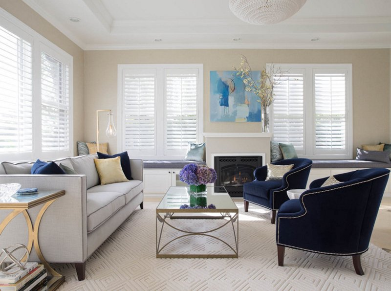 20 Appealing Living Rooms With Gold And Navy Accents Home Design Lover
