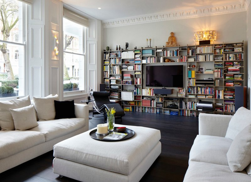 22 interesting ways to add bookshelves in the living room | home