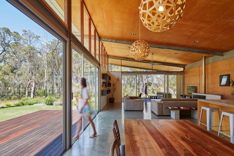 Bush House A Contemporary Home With Corrugated Steel
