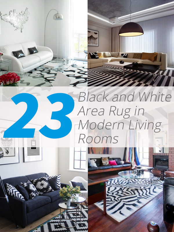 23 modern living rooms adorned with black and white area rugs home