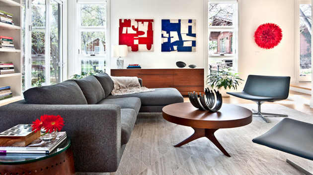 20 Beautiful Living Rooms with Blue Red and White Accents Home