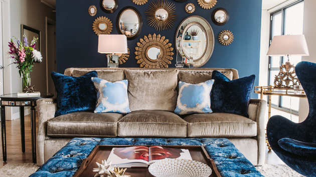 White And Gold Accent Rooms