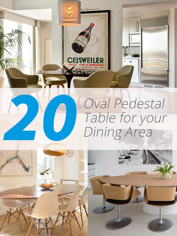 oval pedestal tables