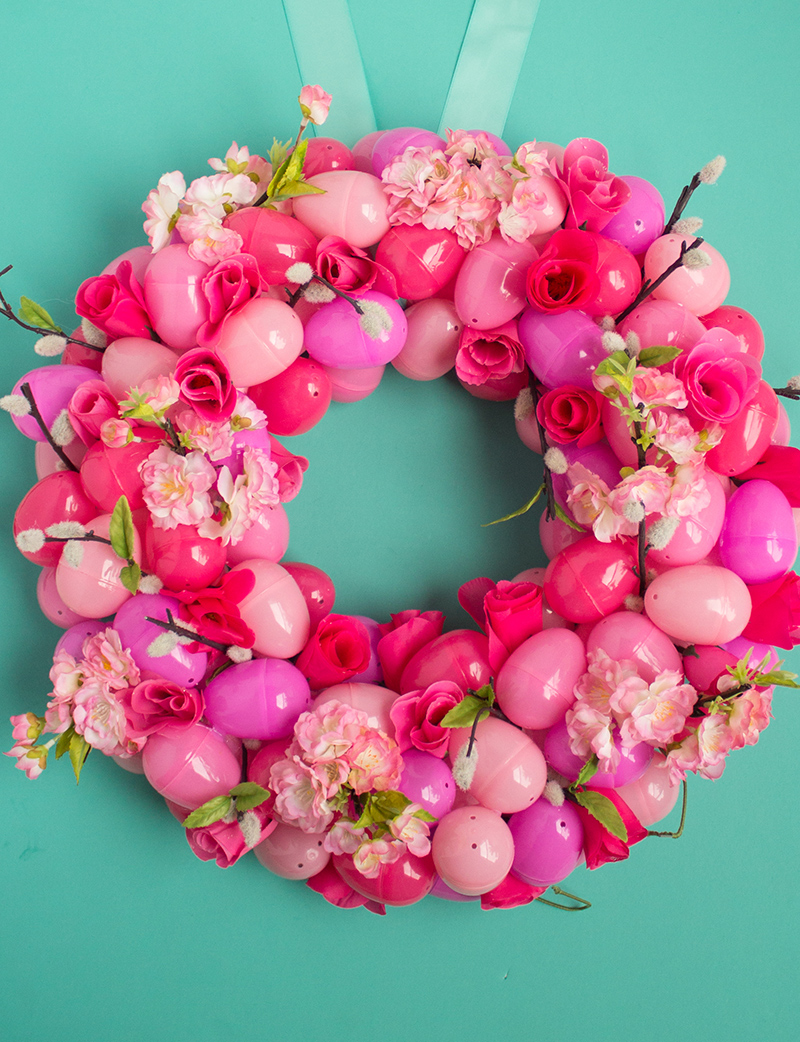 Floral Ombre Easter Egg Wreath