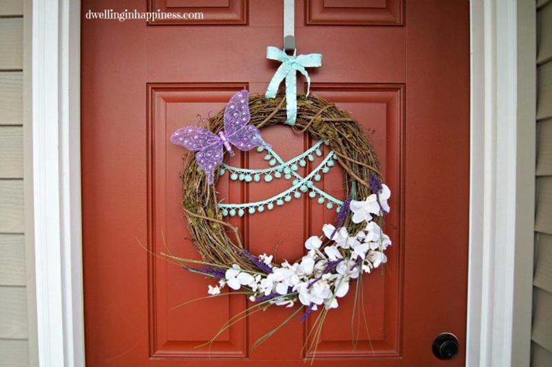 Quick DIY Spring Wreath