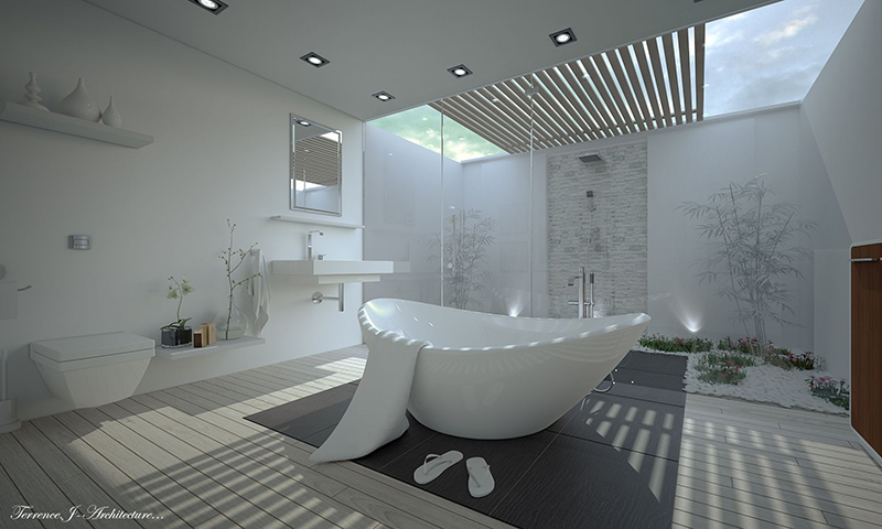 Elegant Zen Bathroom