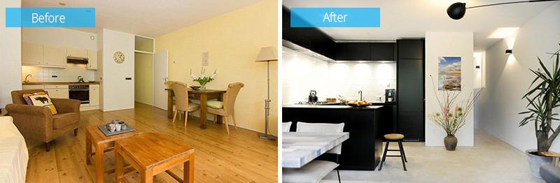 wooden black interior kitchen cabinets