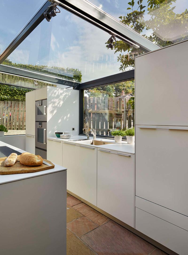 glass box kitchen cabinets