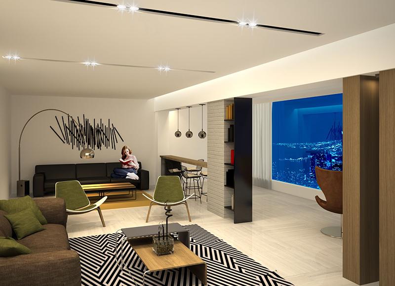 Modern minimalistic Living room