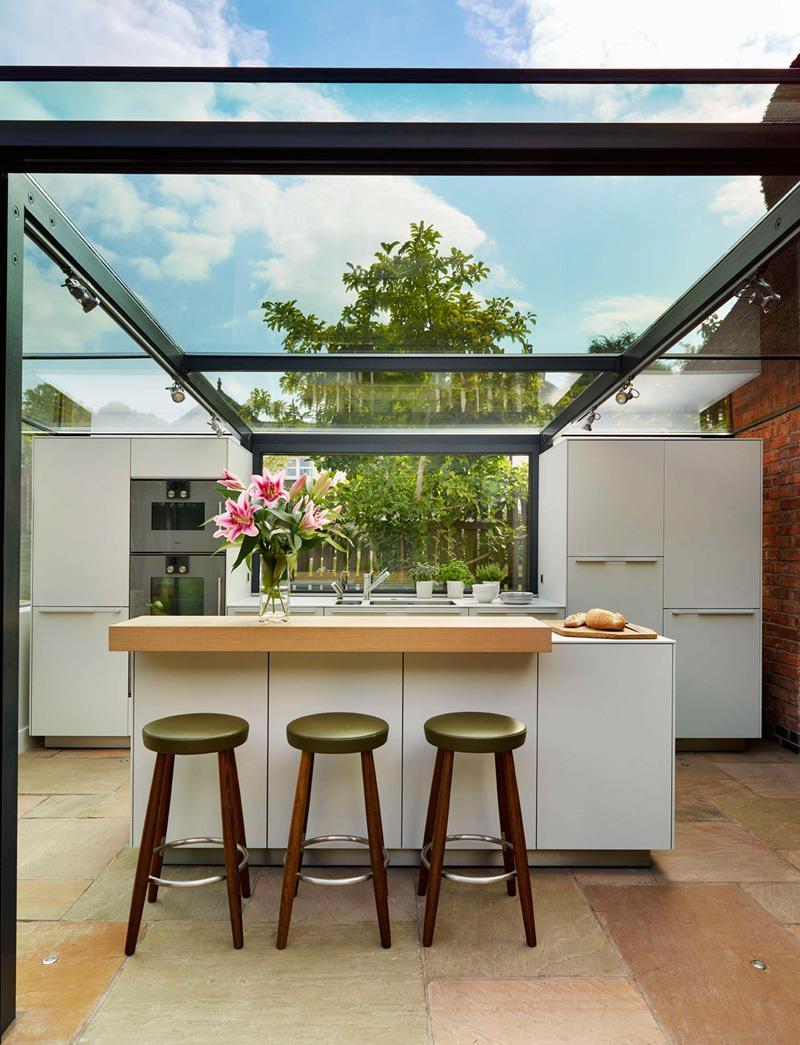 glass box kitchen island