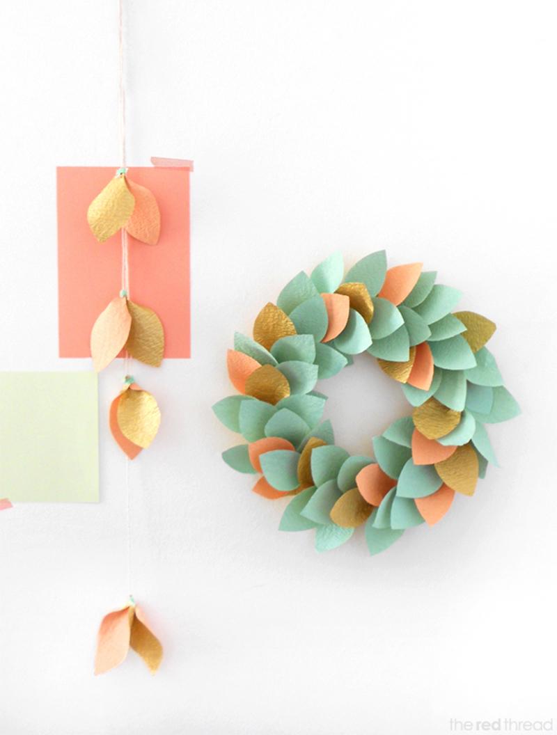 Paper Wreath DIY
