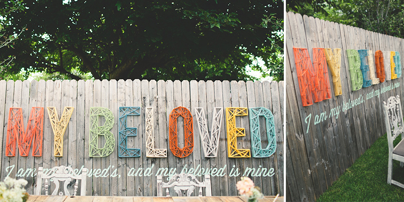 Love: Modern Typography String Backdrop