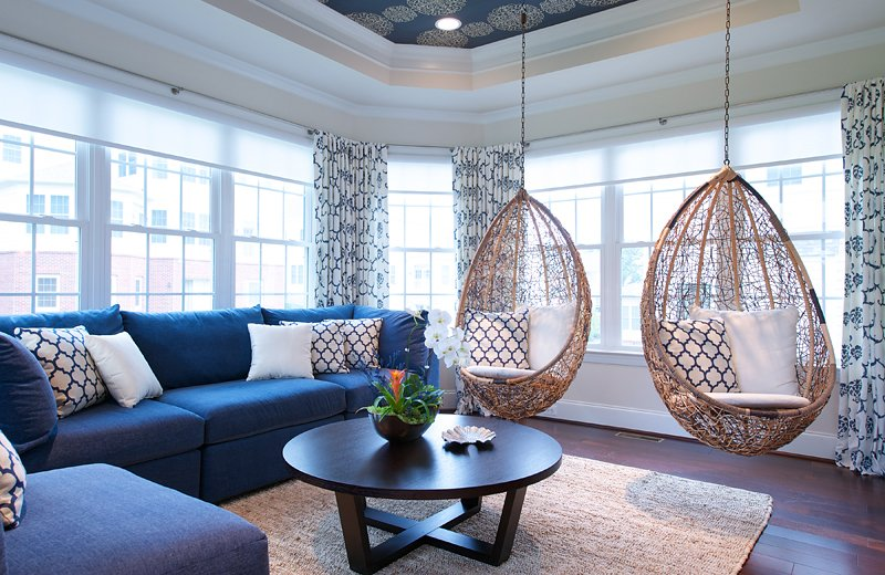 20 Fascinating Swing Chairs In The Living Room Home Design Lover