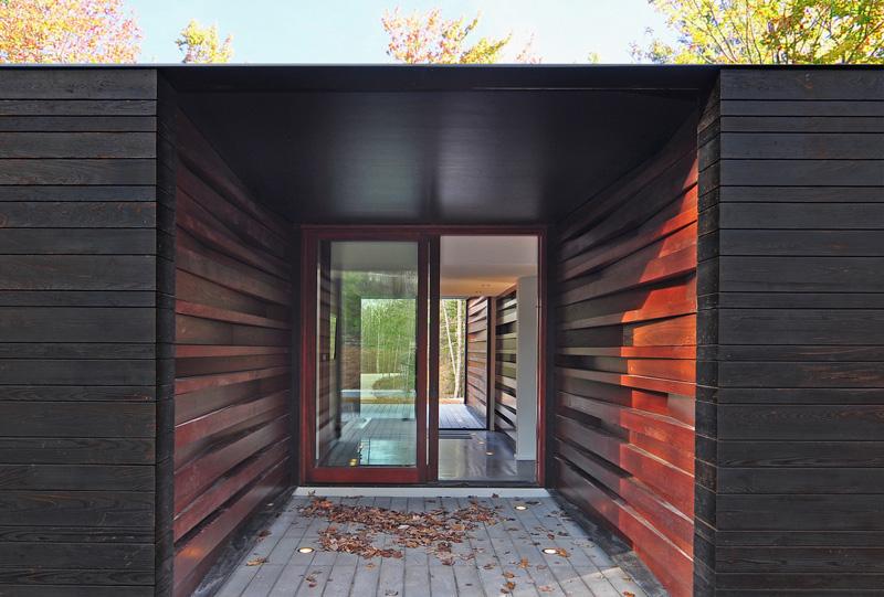Pleated House sliding glass door