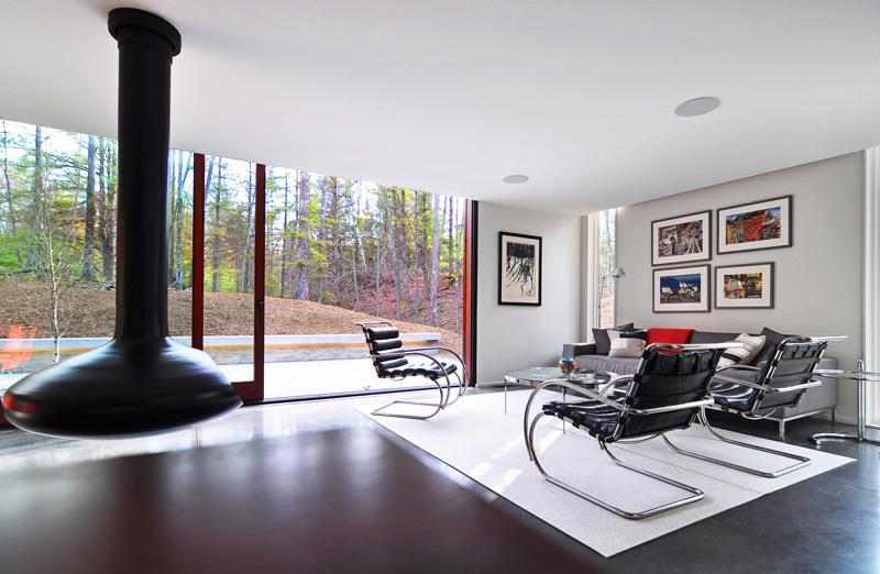 Pleated House interior