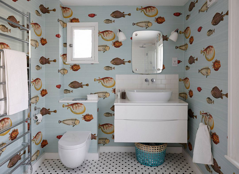 20 Designs Of Stylish Bathroom Wallpapers Home Design Lover