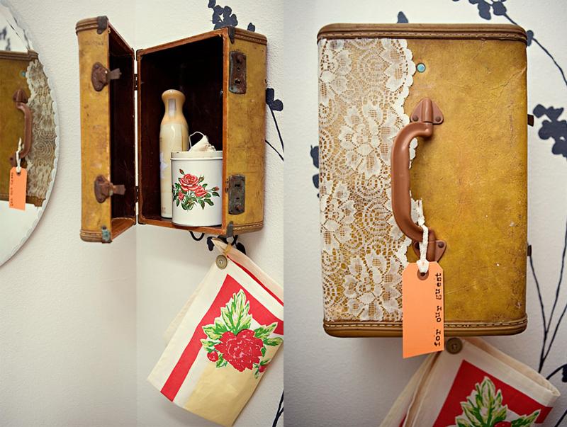 DIY Project: Suitcase Vanity & Towel Holder
