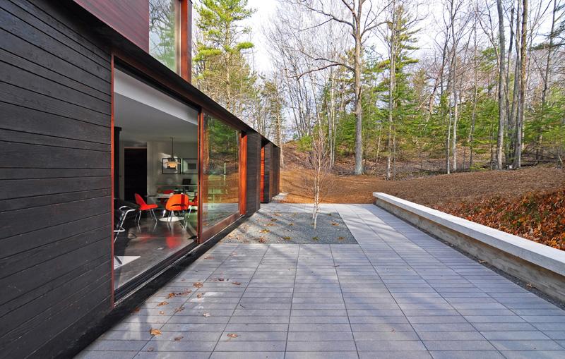 Pleated House patio