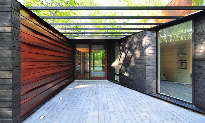 Pleated House wall