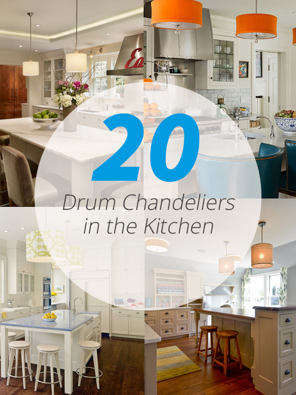 drum chandelier kitchens