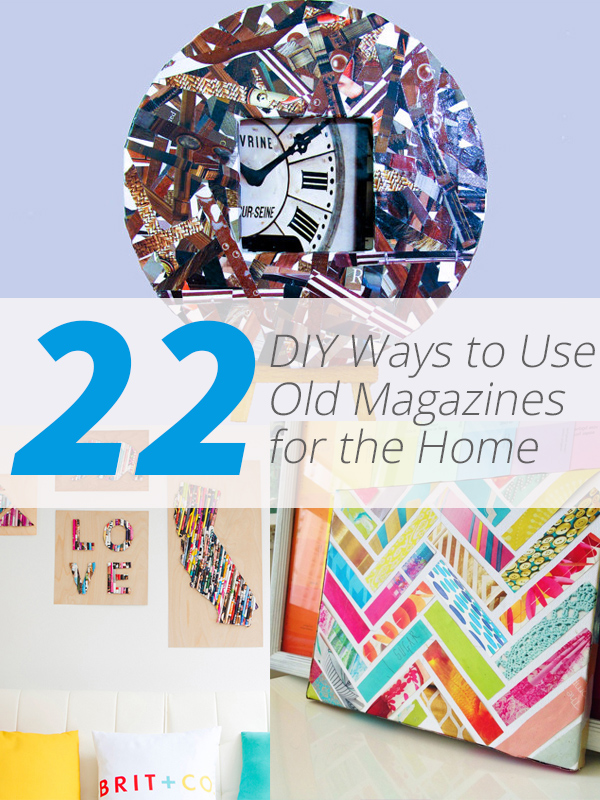 22 ways to recycle old magazines for home decor | home design lover