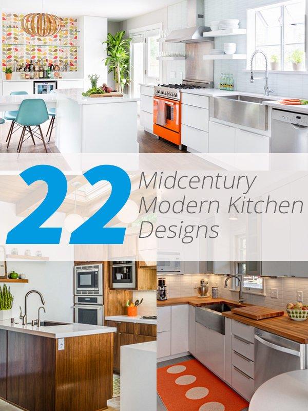 midcentury modern kitchens