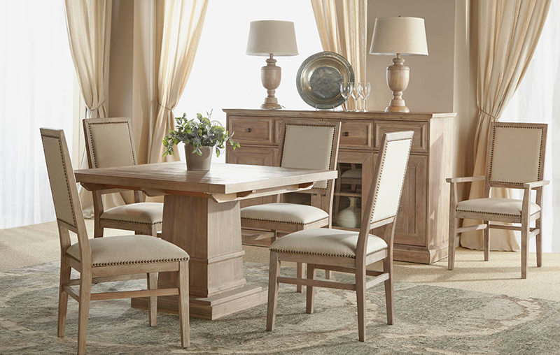 Orient Express Furniture Hudson Square Dining Set With Dexter Chairs width=