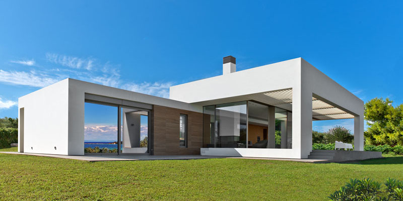 A Stunning White Modern Home On A Greek Island Home