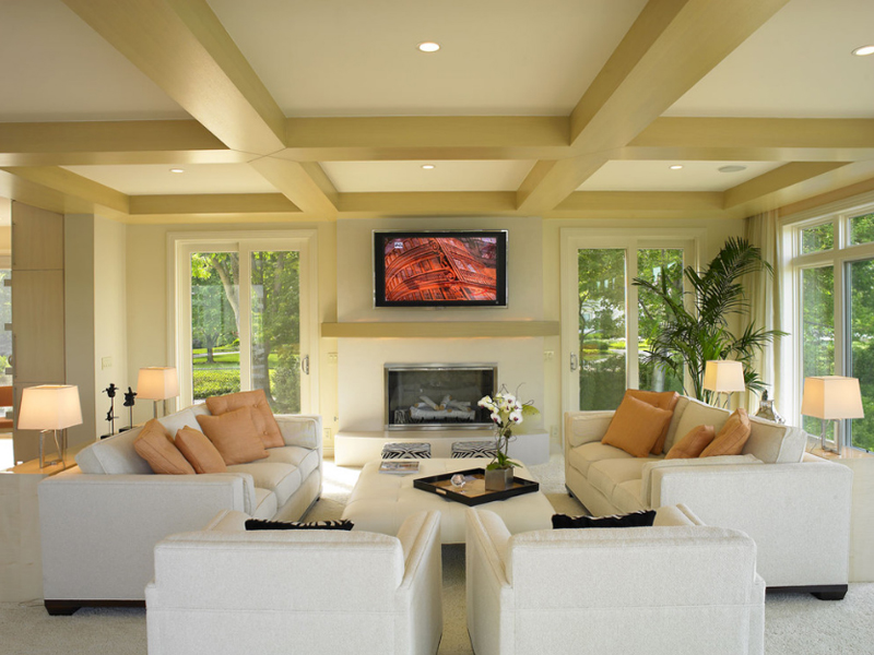 20 Square Coffee Table Ottomans in the Living Room Home Design Lover