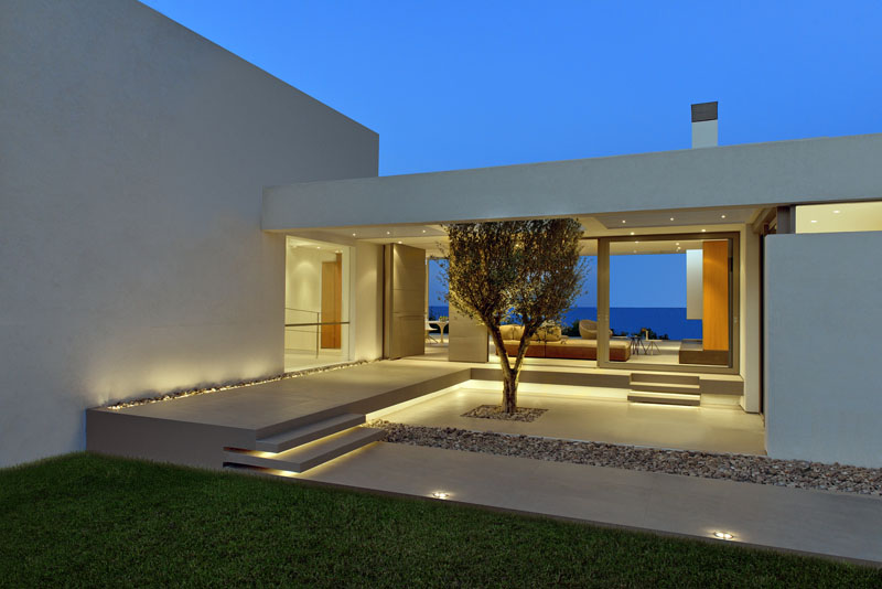 Exellent Modern Architecture Greece Road Home Courtyard On Inspiration