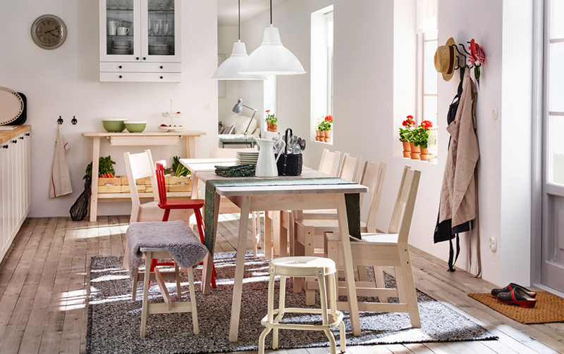 Traditional Scandinavian Family Setting