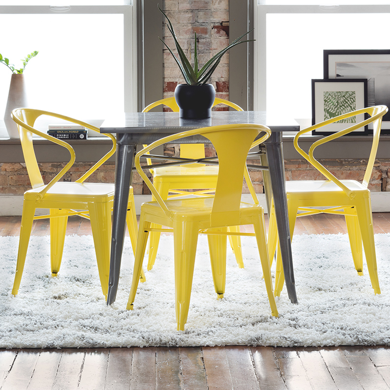 Tabouret Lemon Metal Stacking Chairs