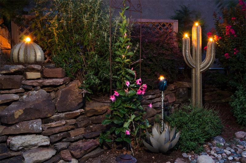 Decorative Desert Art & Tiki Torches
