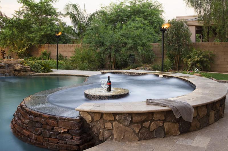 Pool Featuring Appalachian Field Stone Siding - Coronado Stone