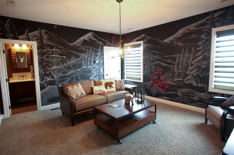 Jonas Brothers Texas Home Stunning Rustic Living Room: 20 Chalkboard Walls And Decors In The Living Room